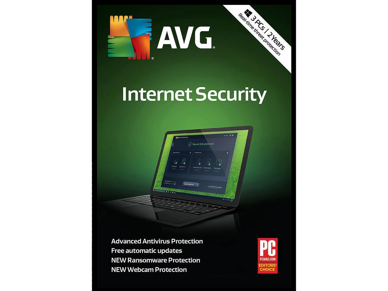 AVG Internet Security 2019, 3 PCs 2 Years - Download
